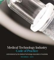 Medical Technology Industry Code of Practice